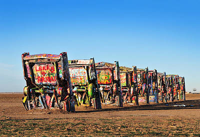Installation Art Photograph - Cadillac Ranch by Edwin Verin