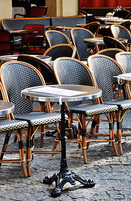 Cafe Terrace In Paris Art Print