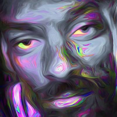 Eye Photograph - Calvin Broadus Aka Snoop Doggy Dogg by David Haskett