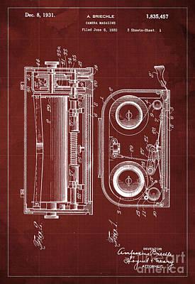 Vintage Camera Painting - Camera Magazine Patent Year 1930 by Drawspots Illustrations