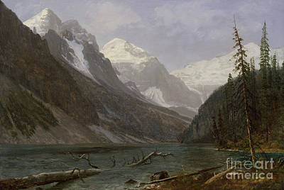 Painting - Canadian Rockies  Lake Louise by Albert Bierstadt