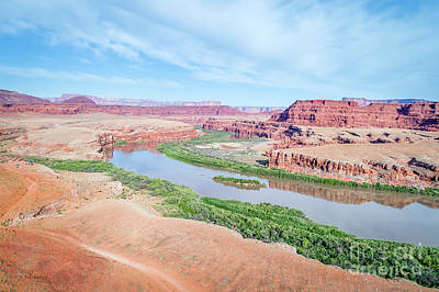 Photograph - Canyon Of Colorado River In Utah Aerial View by Marek Uliasz
