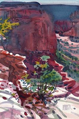 Canyons Painting - Canyon View by Donald Maier