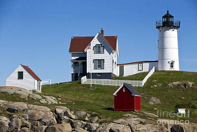 Easter Egg Stories For Children - Cape Neddick Lighthouse Nubble Light York Beach Maine by Jason O Watson