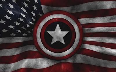 Captain America Photograph - Captain America by Alice Kent