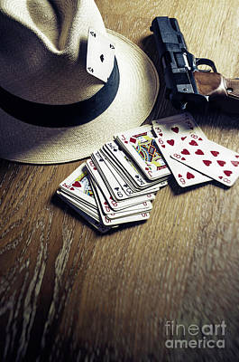 Card Gambling Art Print by Carlos Caetano
