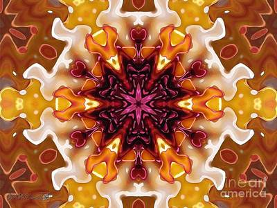 Painting - Caribbean Fantasy Kaleidoscope by J McCombie