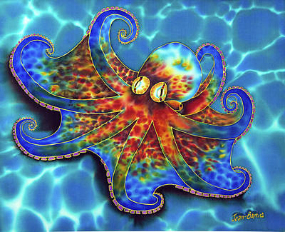 Painting - Caribbean Octopus by Daniel Jean-Baptiste