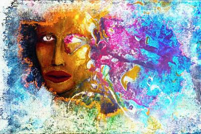 Woman Painting - Caribbean Queen by Leon Bonaventura and Filiberto Bonaventura