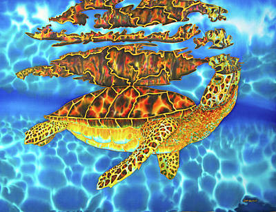 Painting - Caribbean Sea Turtle by Daniel Jean-Baptiste