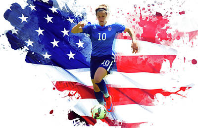 Landon Donovan Digital Art - Carli Lloyd by Semih Yurdabak