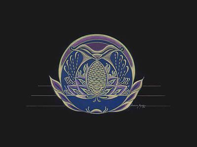 Visionary Art Drawing - Carp Of Good Fortune by Anacaria Myrrha