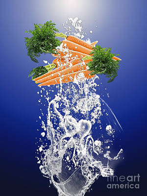 Mixed Media - Carrot Splash by Marvin Blaine