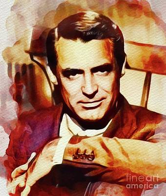Featured Tapestry Designs - Cary Grant, Vintage Movie Star by Esoterica Art Agency