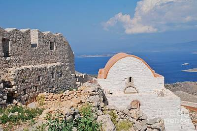 Photograph - Castle Chapel On Halki by David Fowler
