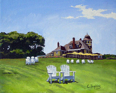 Castle Hill Inn Newport Rhode Island Art Print by Christine Hopkins