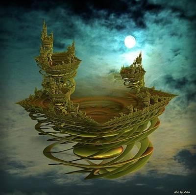 Digital Art - Castle In The Sky by Lilia D