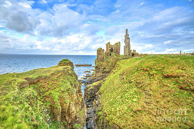 Photograph - Castle Sinclair Girnigoe Scotland by Benny Marty
