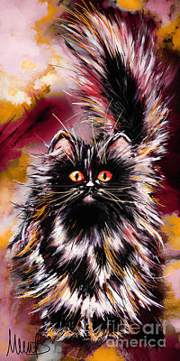 Persian Cat Painting - Cat 1 by Melanie D