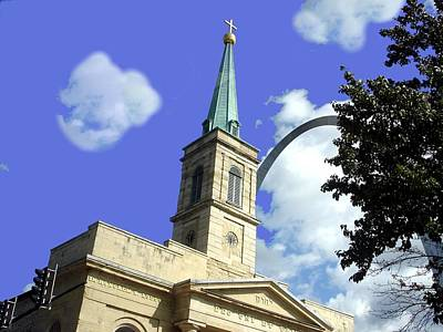 Photograph - Cathedral Arch View by Kenny Glover