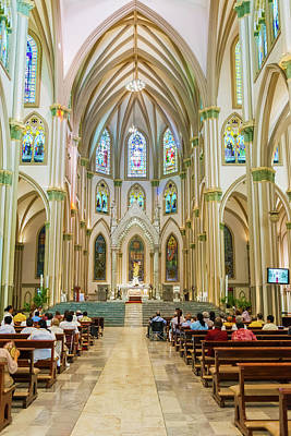Photograph - Cathedral Church In Guayaquil, Ecuador. by Marek Poplawski