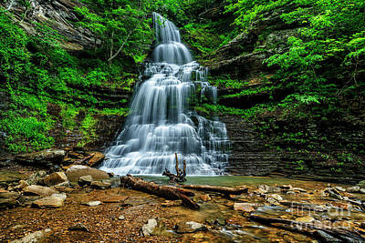 Ledge Photograph - Cathedral Falls by Thomas R Fletcher