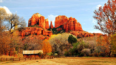 Cathedral Rock Art Print by Howard Bagley