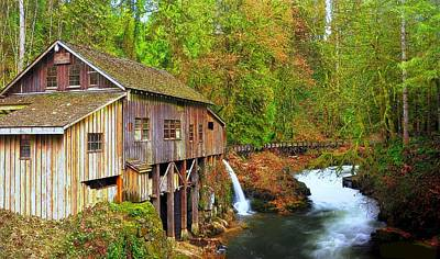 Photograph - Cedar Creek Grist Mill by Steve Warnstaff