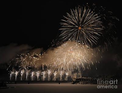 Fire Works Photograph - Celebration by Nina Stavlund