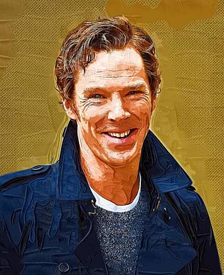 Celebrity Benedict Cumberbatch  Art Print