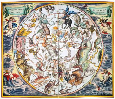 Photograph - Celestial Planisphere, 1660 by Granger