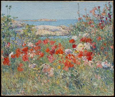 Maine Meadow Painting - Celia Thaxter's Garden by  Childe Hassam