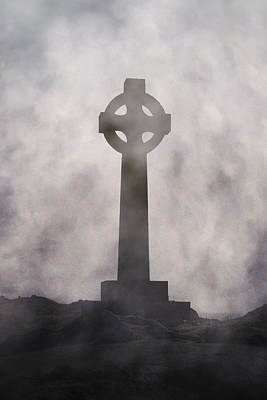 Headstone Photograph - Celtic Cross by Joana Kruse
