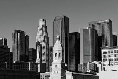 Photograph - Central Los Angeles Skyline by L O C