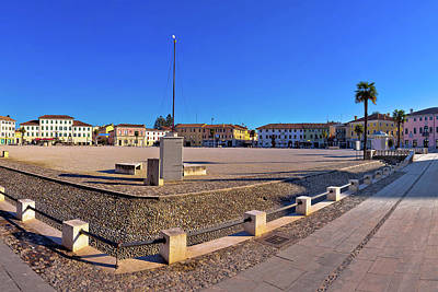 Photograph - Central Square In Town Of Palmanova Panoramic View by Brch Photography