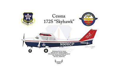 Digital Art - Cessna 172s Skyhawk by Arthur Eggers