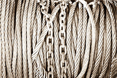 Chains And Cables Art Print by Tom Gowanlock
