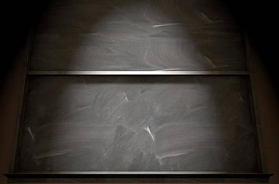 Classrooms Digital Art - Chalkboard Closeup by Allan Swart
