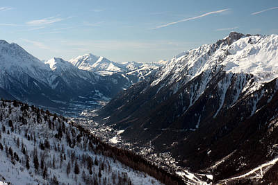 Chamonix Resort In The French Alps Art Print by Pierre Leclerc Photography