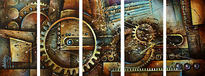 Mechanical Painting - Chaos by Michael Lang