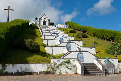 Chapel In Azores Islands Art Print by Gaspar Avila