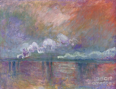 Abstract Movement Painting - Charing Cross Bridge by Claude Monet