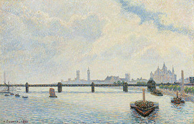 Painting - Charing Cross Bridge, London by Camille Pissarro