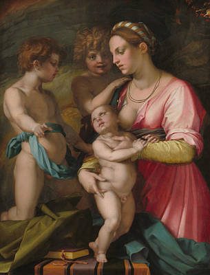 Painting - Charity by Andrea del Sarto
