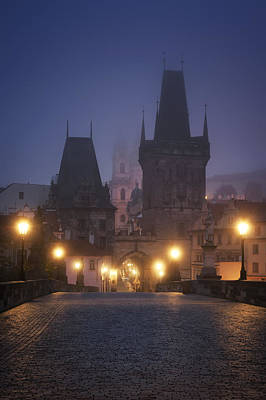 Charles Bridge, Prague, Czech Republic Art Print