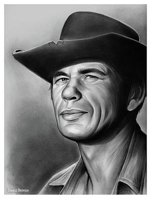 Drawings Rights Managed Images - Charles Bronson Royalty-Free Image by Greg Joens