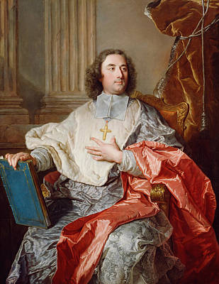 Painting - Charles De Saint-albin, Archbishop Of Cambrai by Hyacinthe Rigaud