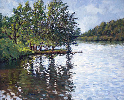 Painting - Cher-ful Lake by Mark Lunde