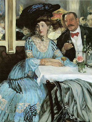 Painting - Chez Mouquin by William Glackens
