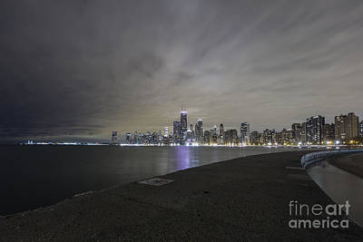 Photograph - Chicago Skyline At Night by Keith Kapple